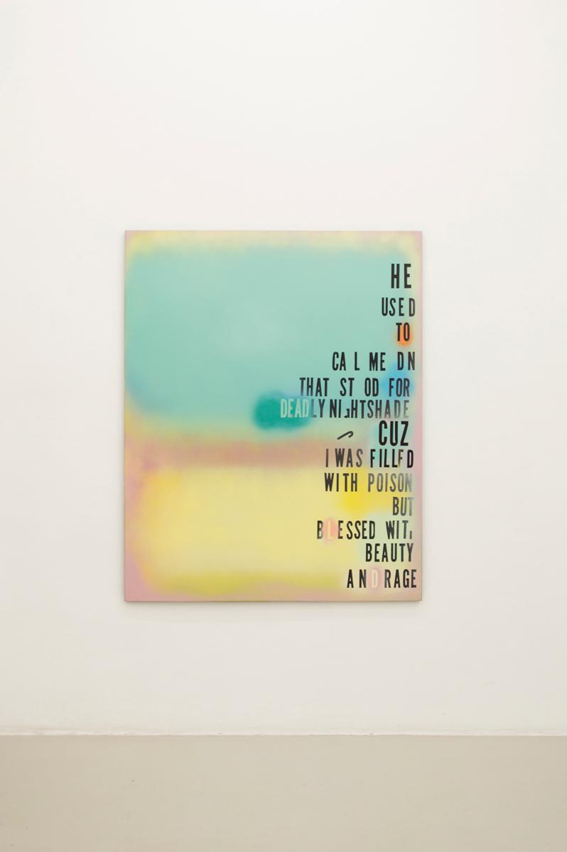 Me and Jane Doe, 2014, 153 x 122 cm Spraypaint on canvas