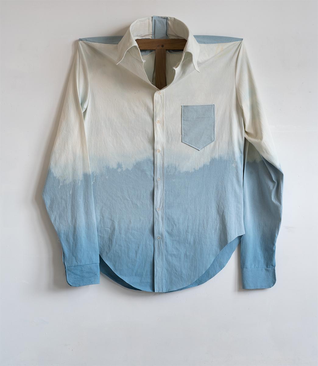 Denim Gradient, 2015 157,5 x 139,7 x 31 cm Cotton on Walnut Frame