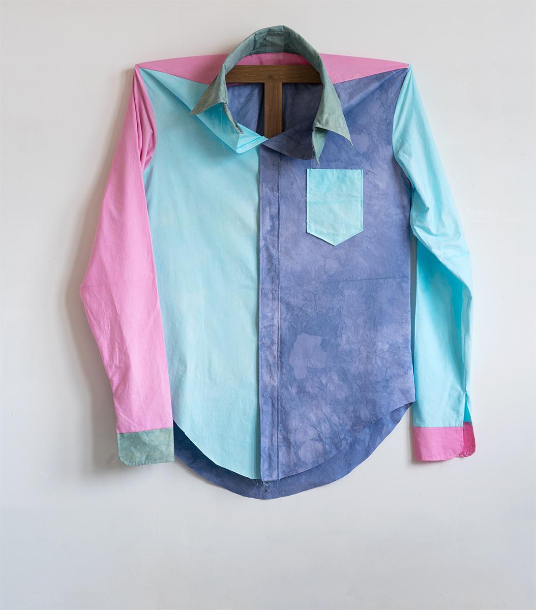 Color Block Shirt, 2015 157,5 x 139,7 x 31 cm Cotton on Walnut Frame