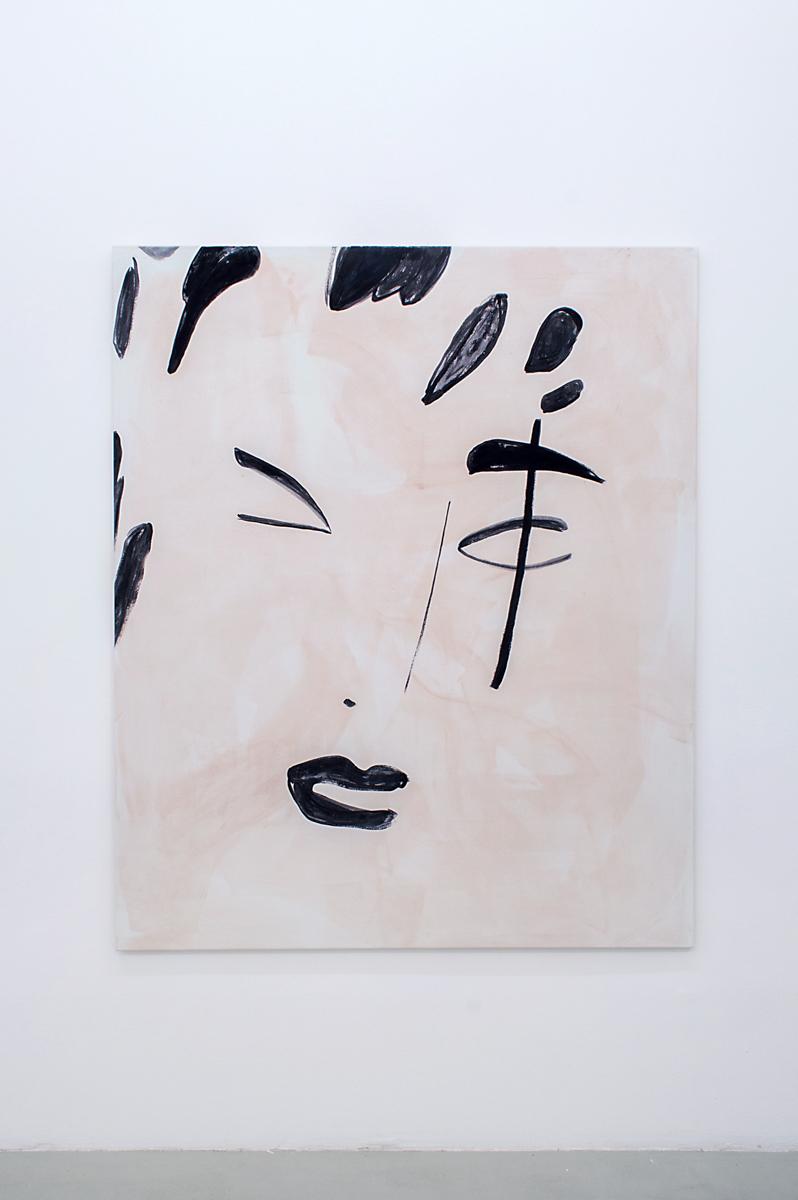 Zoe de Soumagnat    Silhouette,  2015 180 x 149 cm Gouache on canvas