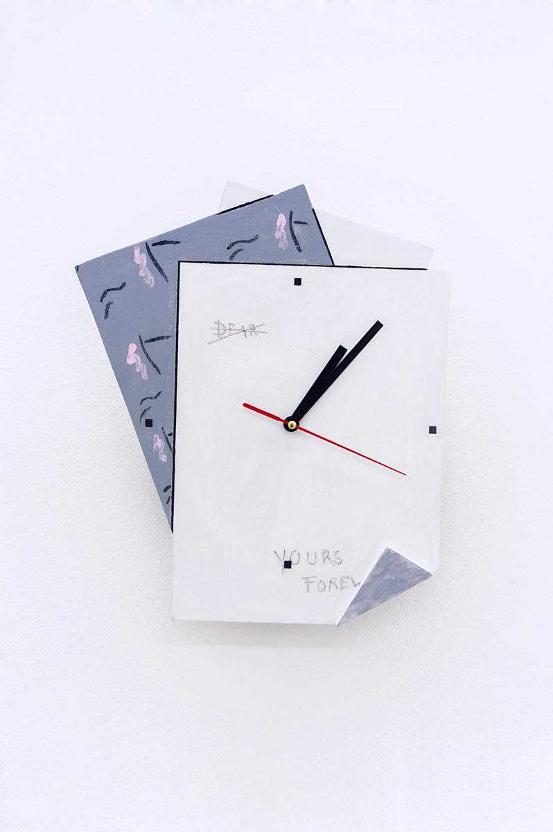 Zoe de Soumagnat    2 U,  2016 33 x 28 x 4 cm MDF, Clock