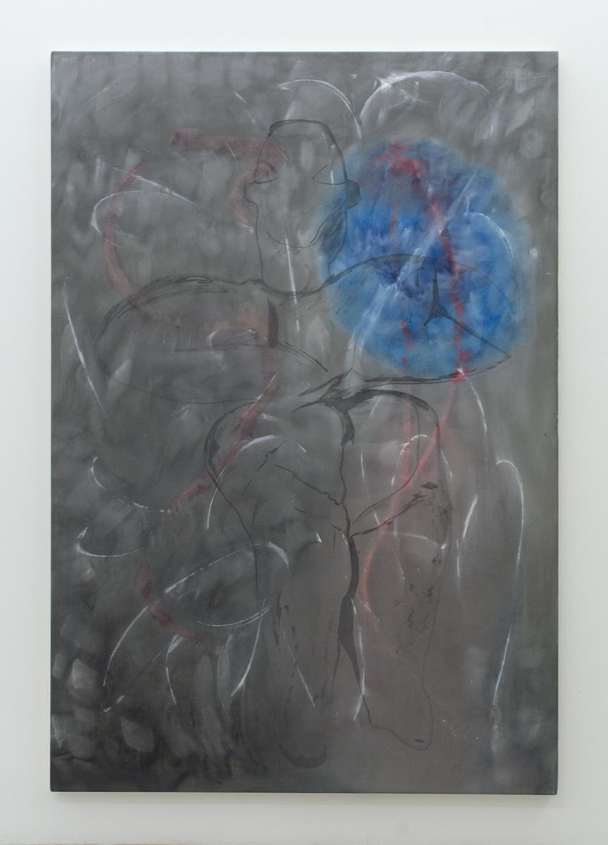 Untitled (13 true stories series #10) 2016 190 x 130 cm Ink, gesso, glue on cotton canvas