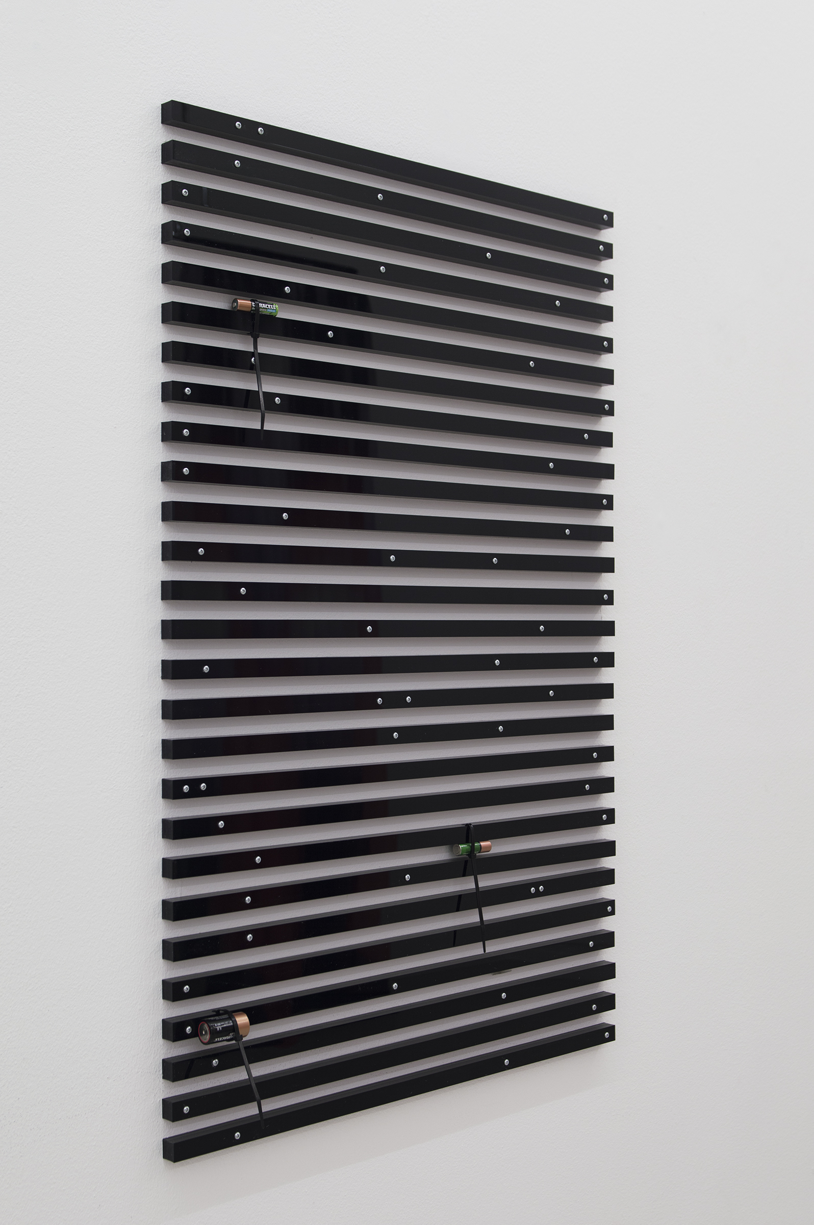 Vitality Maze ,2017 105 x 66 cm Plexiglass, steel, and batteries