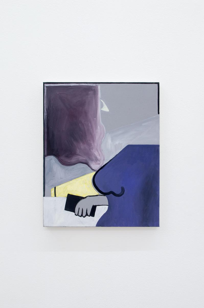 Blues IV 2017 41 x 33 cm Oil and acrylic on canvas