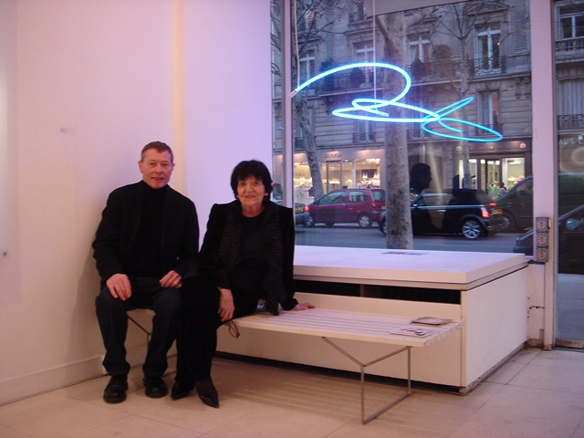 Freddy Freak with Denise Rene at her gallery on Blvd Saint Germain (private photo)