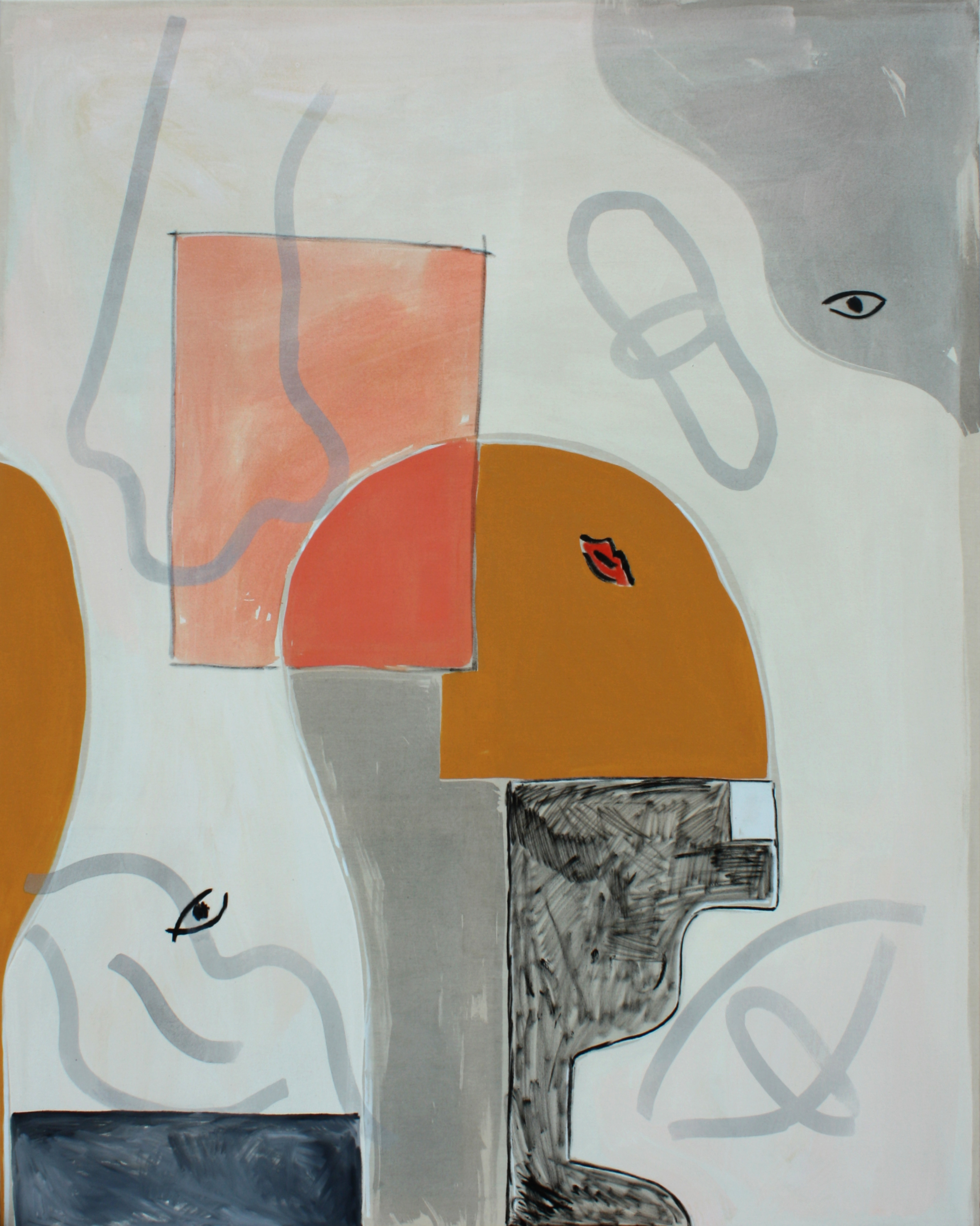 Not you, oil and acrylic on canvas, 150 x 120 cm