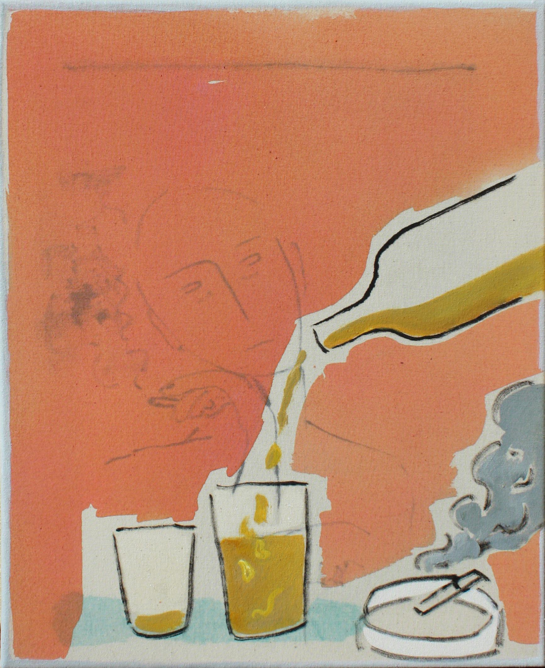 Blues VIII, oil and acrylics on canvas, 41 x 33 cm.