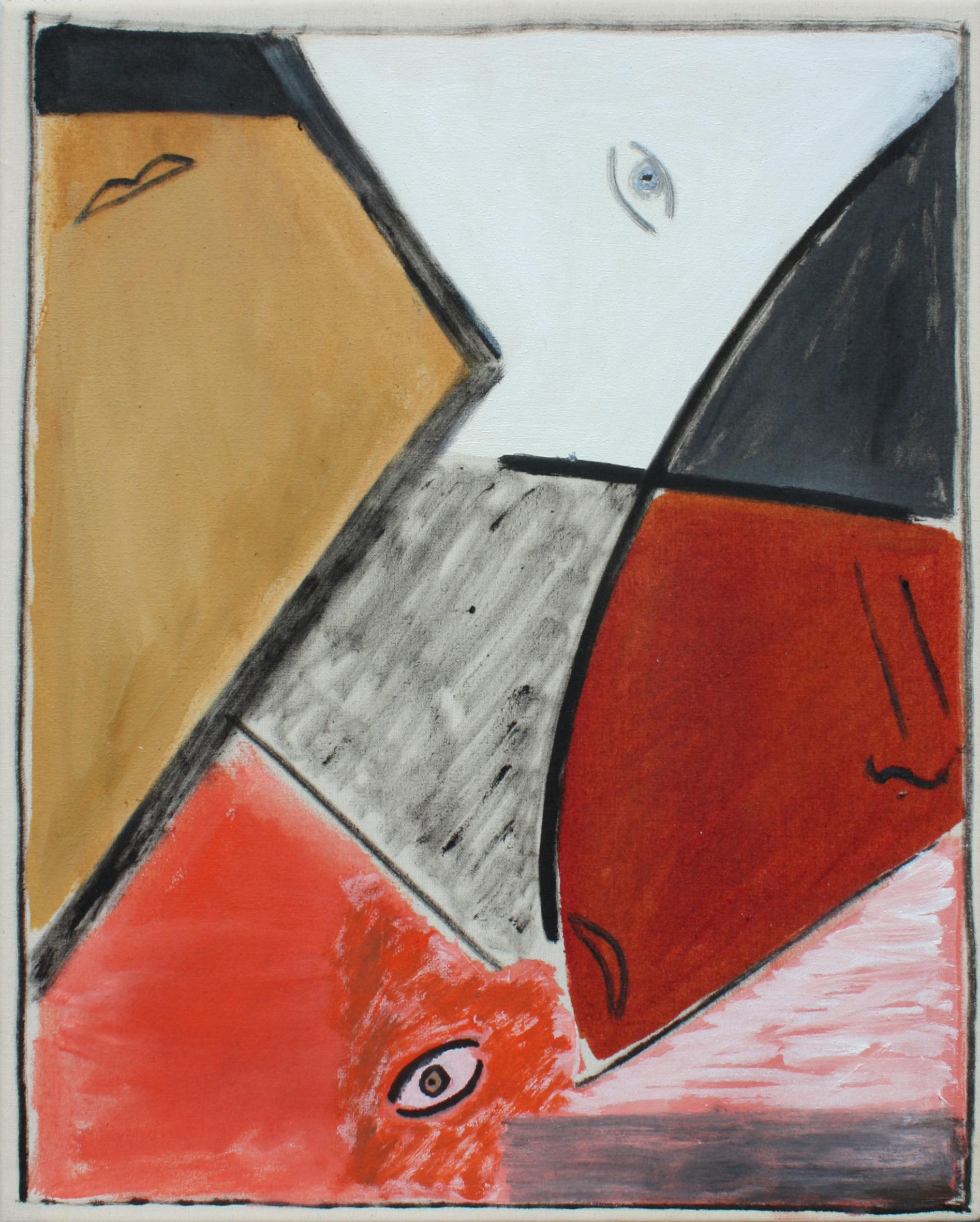 Blues IX, oil and acrylic on canvas, 41 x 33 cm.