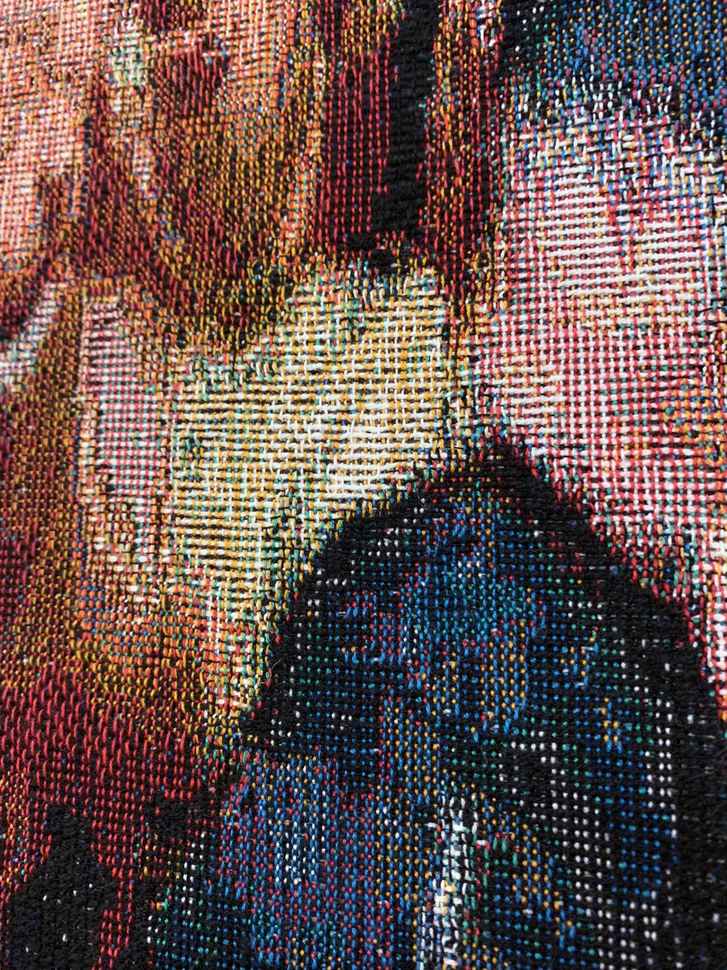 x8U/dy, 2019 (detail) 190cm x 140cm Dye Cotton Tapestry