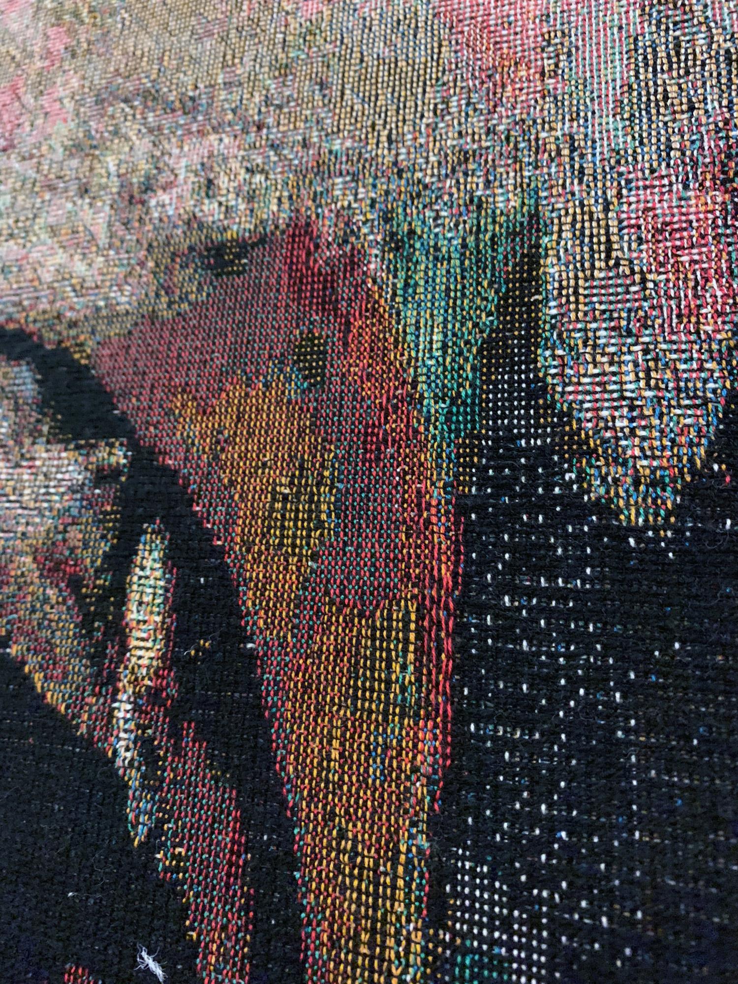 h6^8DJ, 2019 (detail) 190cm x 140cm Dye Cotton Tapestry