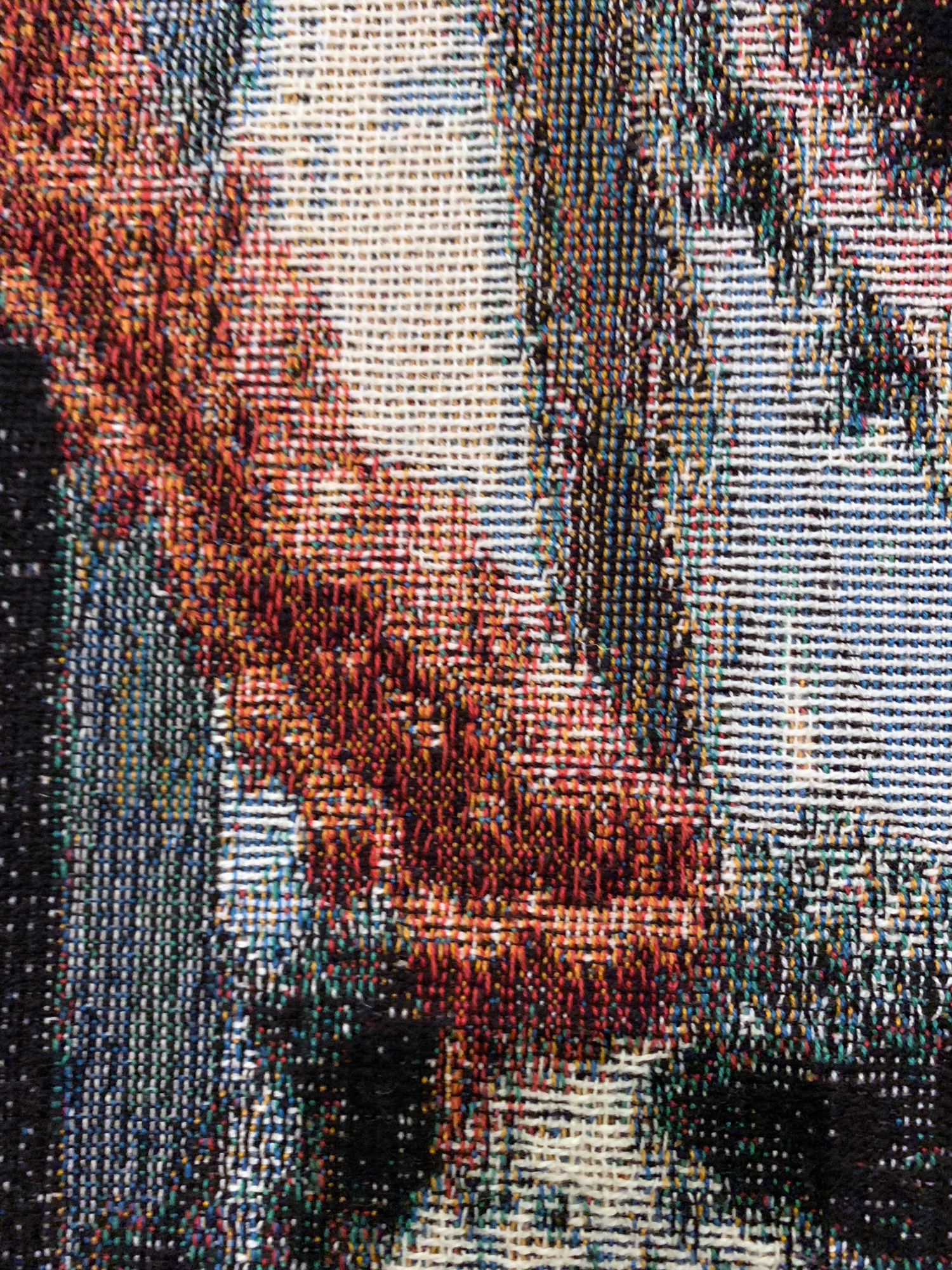 x+7J@c, 2019 (detail) 190cm x 140cm Dye Cotton Tapestry
