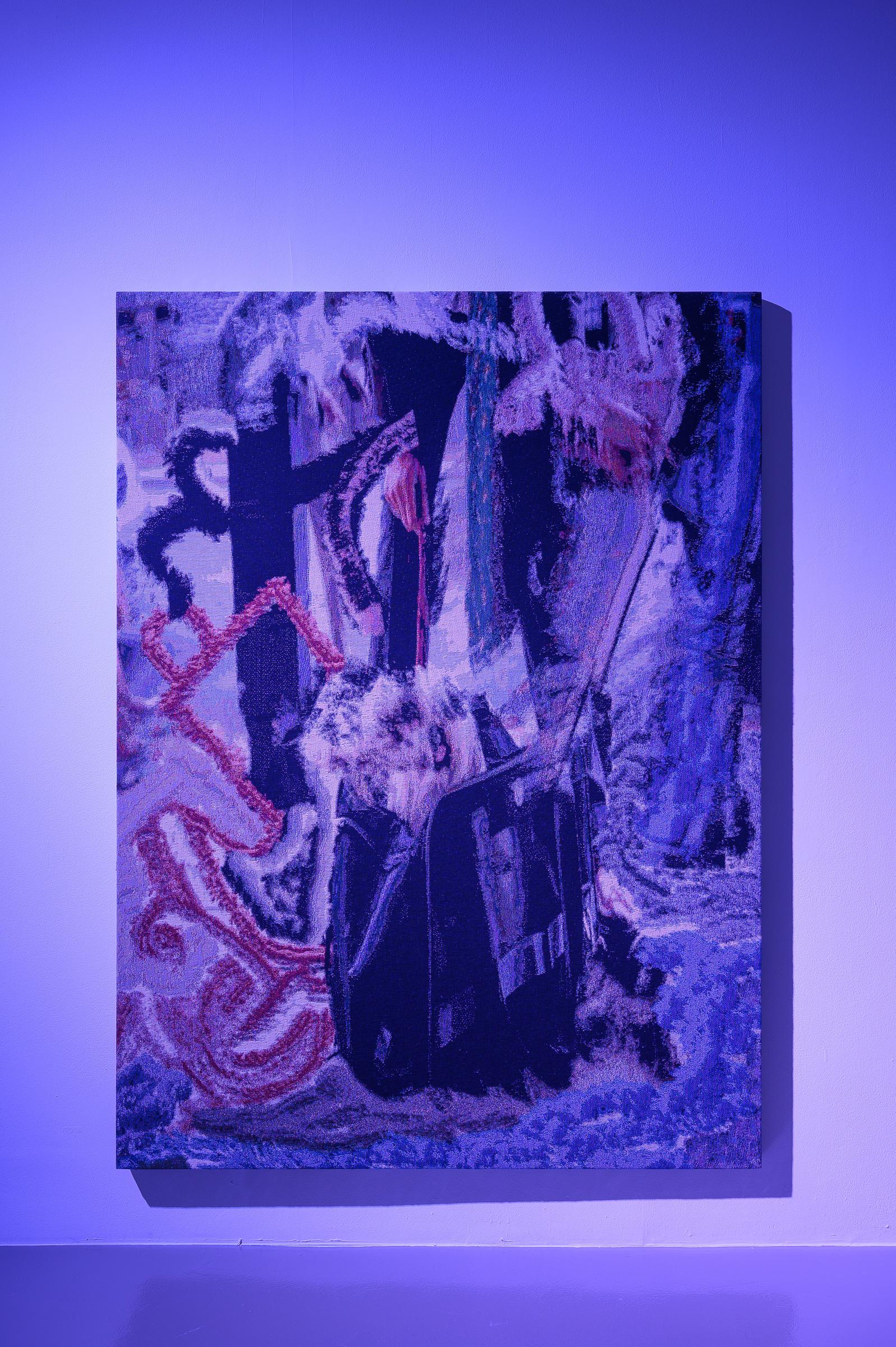 x+7J@c, 2019 190cm x 140cm Dye Cotton Tapestry