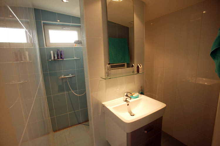 Private shower and toilet