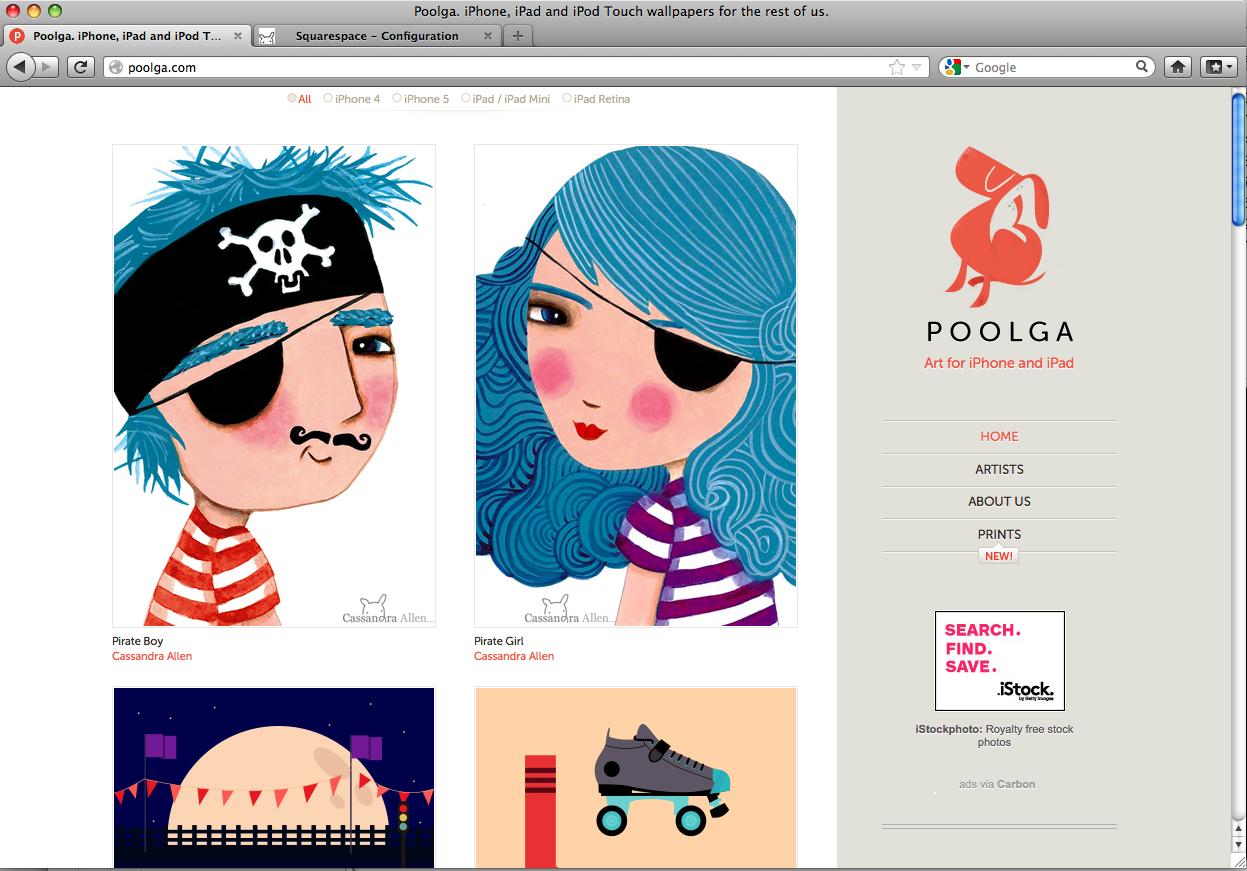 The Poolga website.