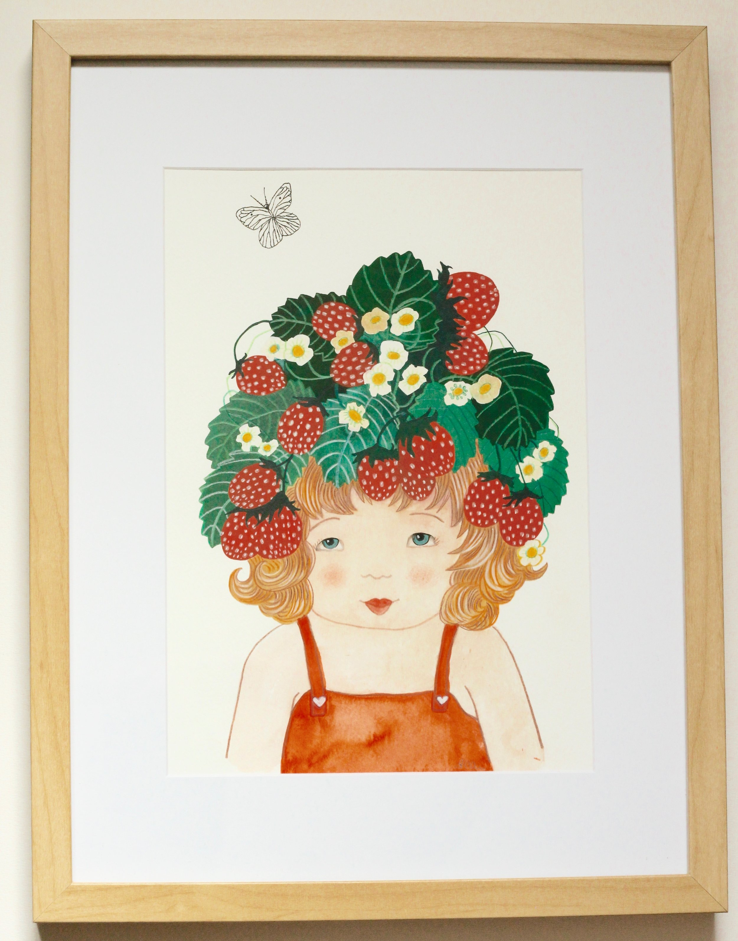 MARA FRAISES DES BOIS - 20x30cm gouache and pencil on paper €120SOLD
