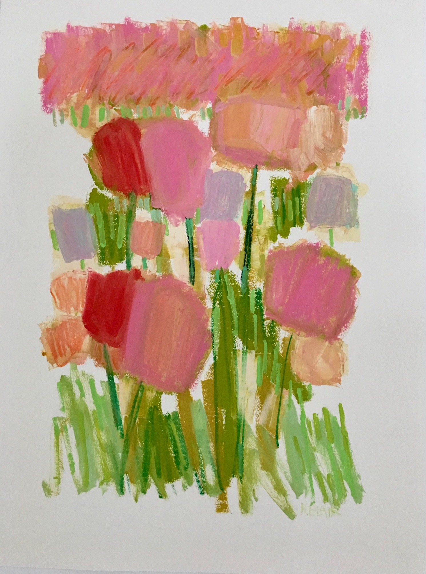 Tulips II, 30 x 23 inches, Mixed Media on Paper, $1,200.jpg