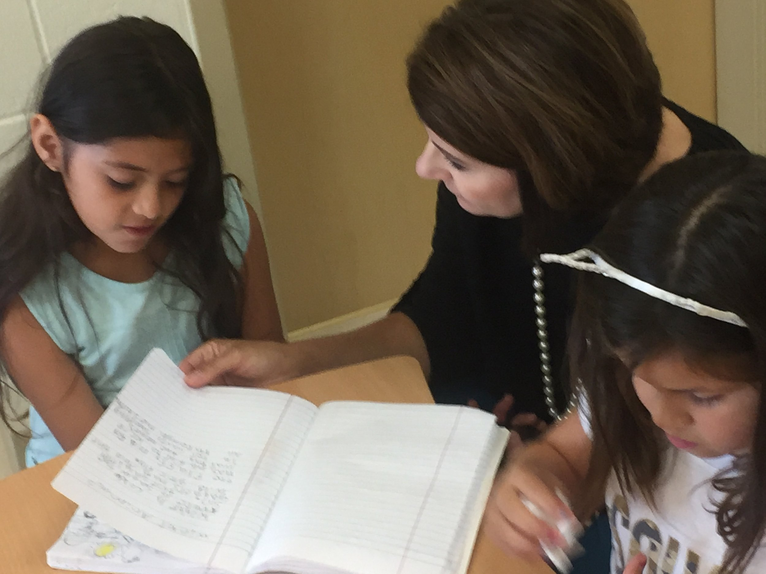 Journaling and one-on-one review time help build reading and literacy skills