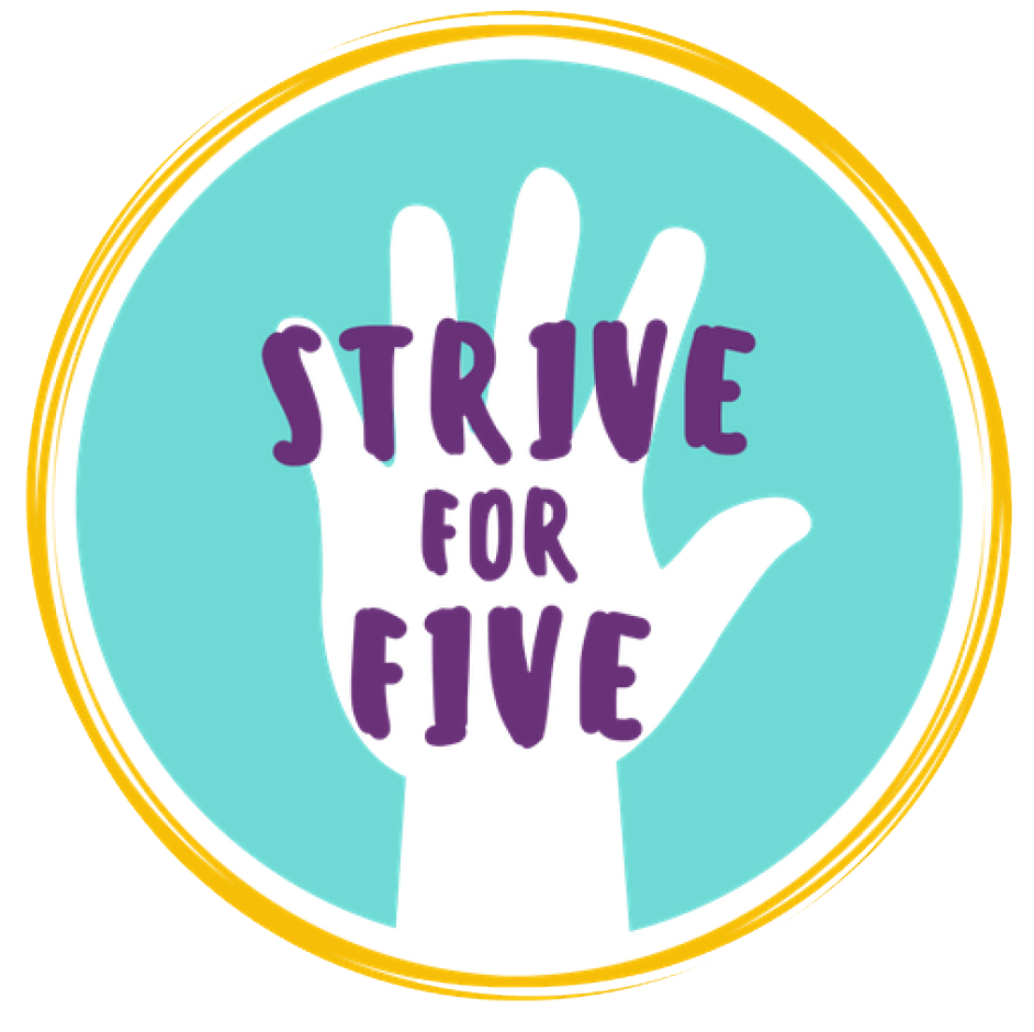 Click here for a STRIVE FOR FIVE sticker template.