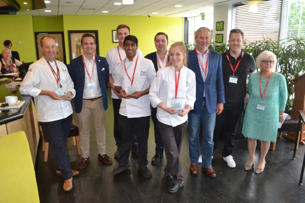 The judges and winners from Reading College.