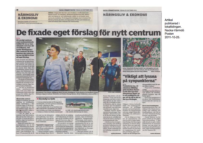 artikel 7 De fixade eget förslag för nytt centrum, Nacka Värmdö Posten, 2011.jpg