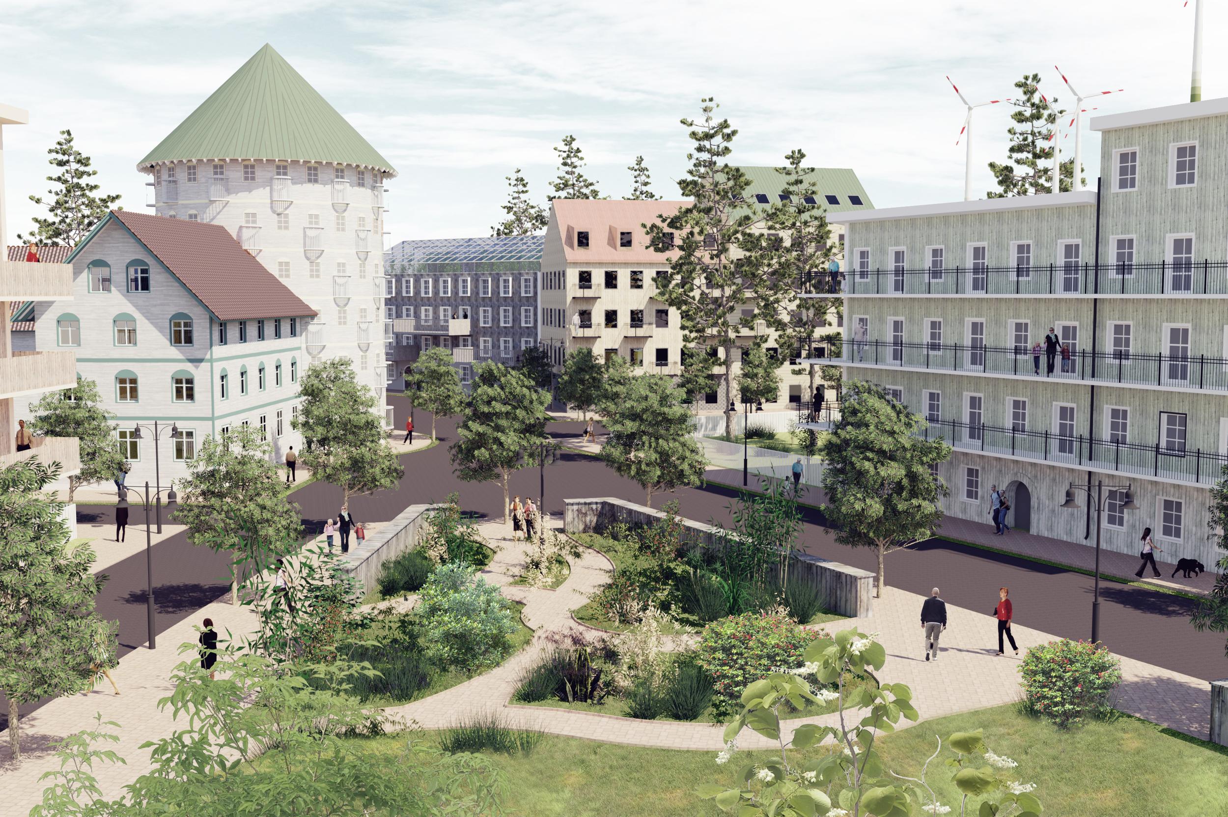 Visionsbild för trästaden Nysala.