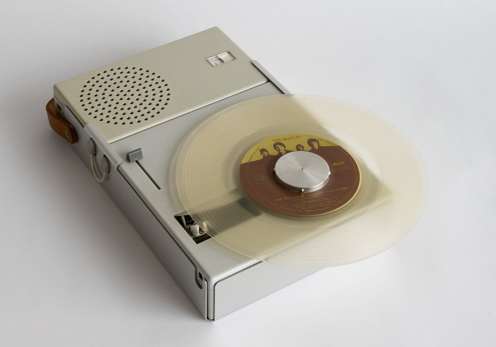 Braun TP1 portable transistor radio and phonograph designed by Dieter Rams.