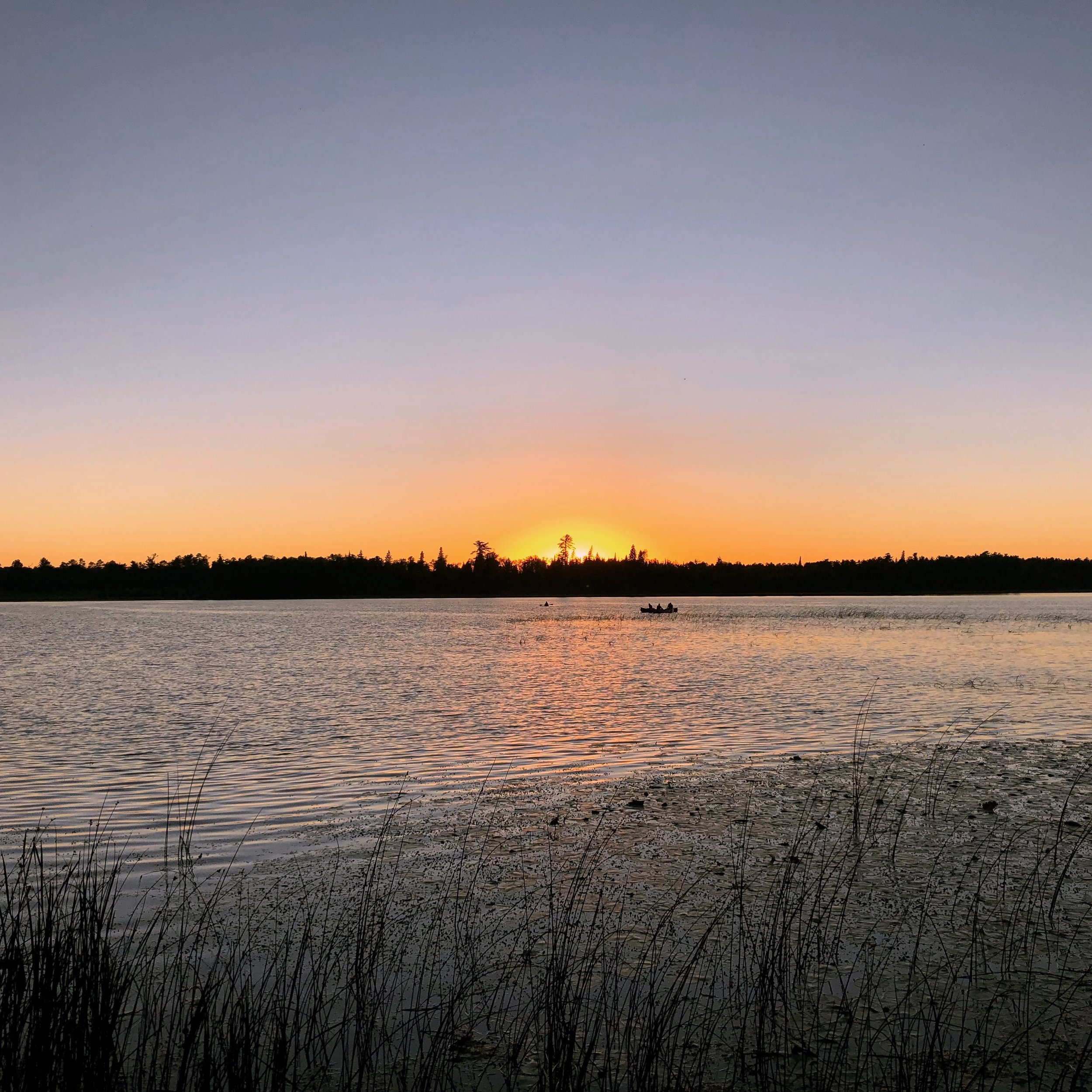 Sunset on Lake Itasca