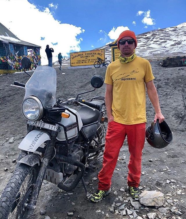 Altitude: 17,582 ft. @craiglongobardi taking us to new heights in Leh, India.