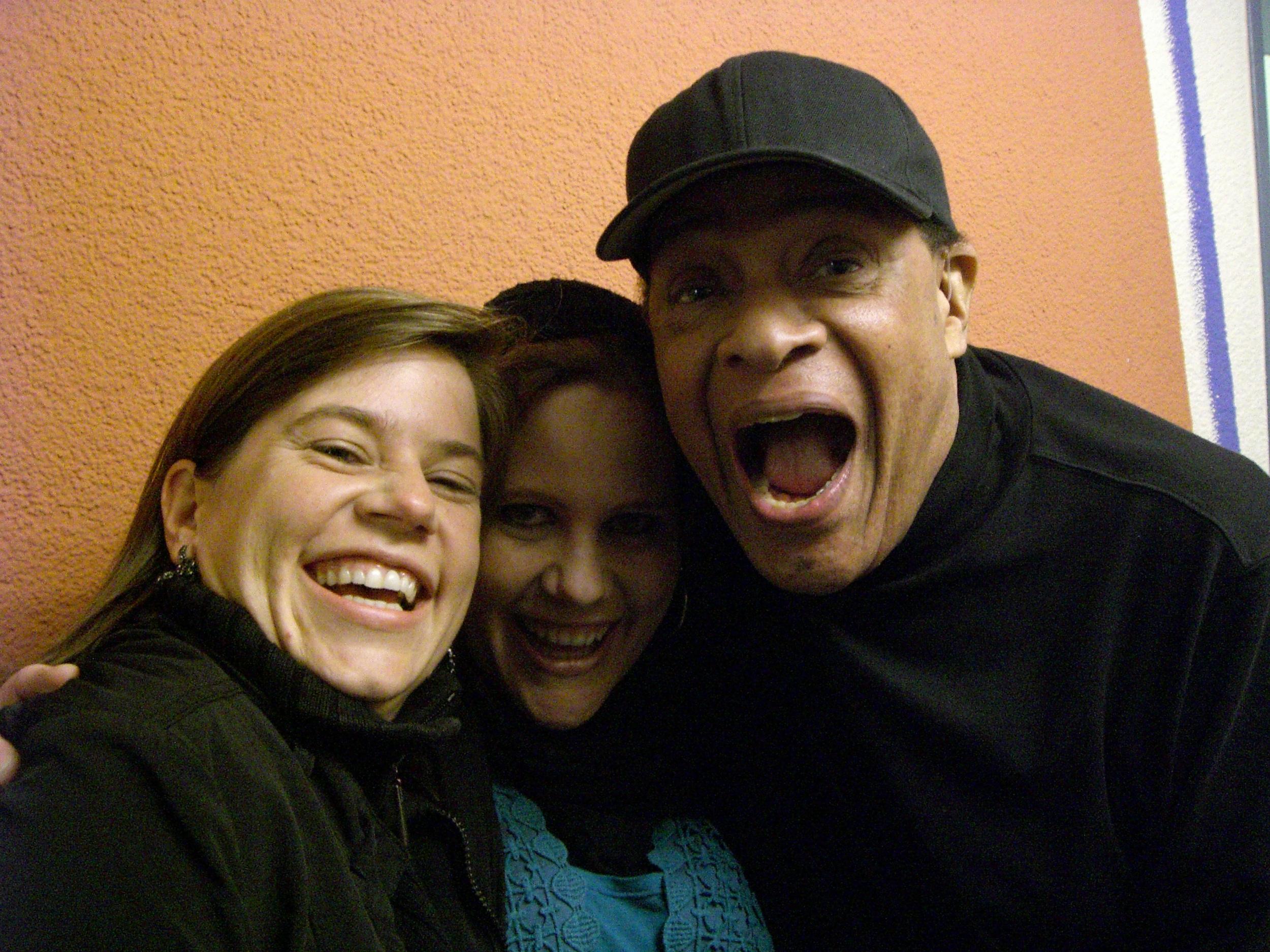 Mit Al Jarreau und Petra Athen, Backstage Freilichtbühne Killesberg, Juli 2011