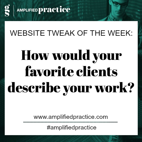 Therapist Website Tip| Amplified Practice Authentic Marketing & Business Coaching for Therapists