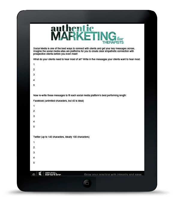 Marketing for Therapists | Amplified Practice Authentic Marketing & Business Coaching for Therapists