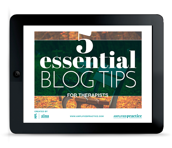 Blog Tips for Therapists
