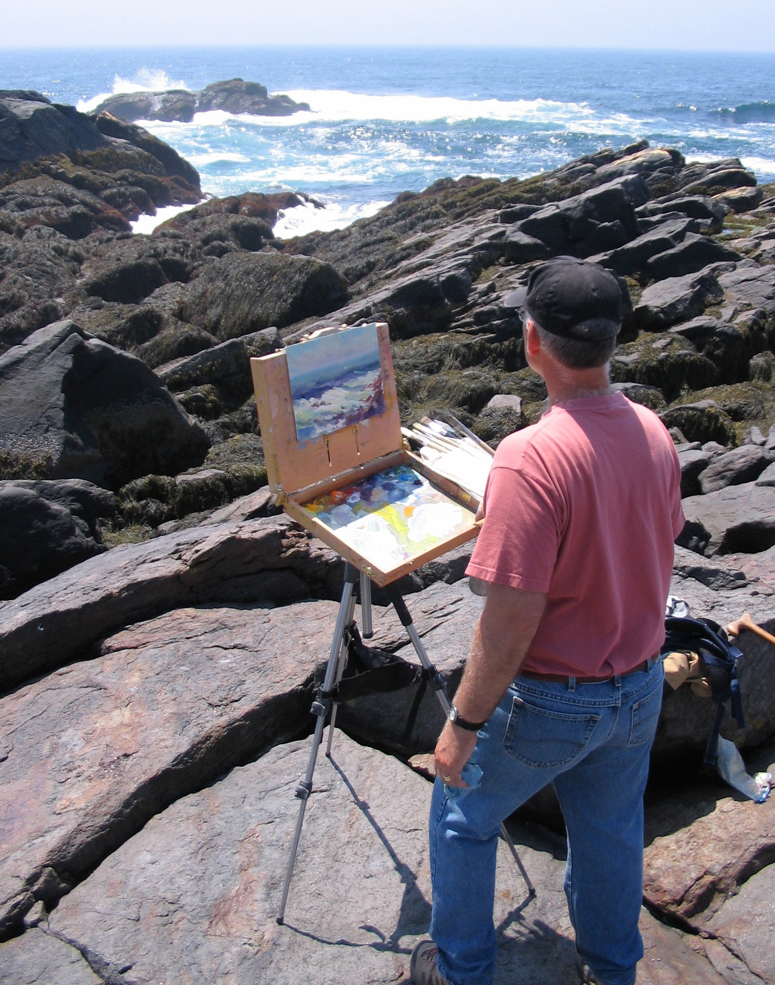 Painting on Monhegan Island, Maine