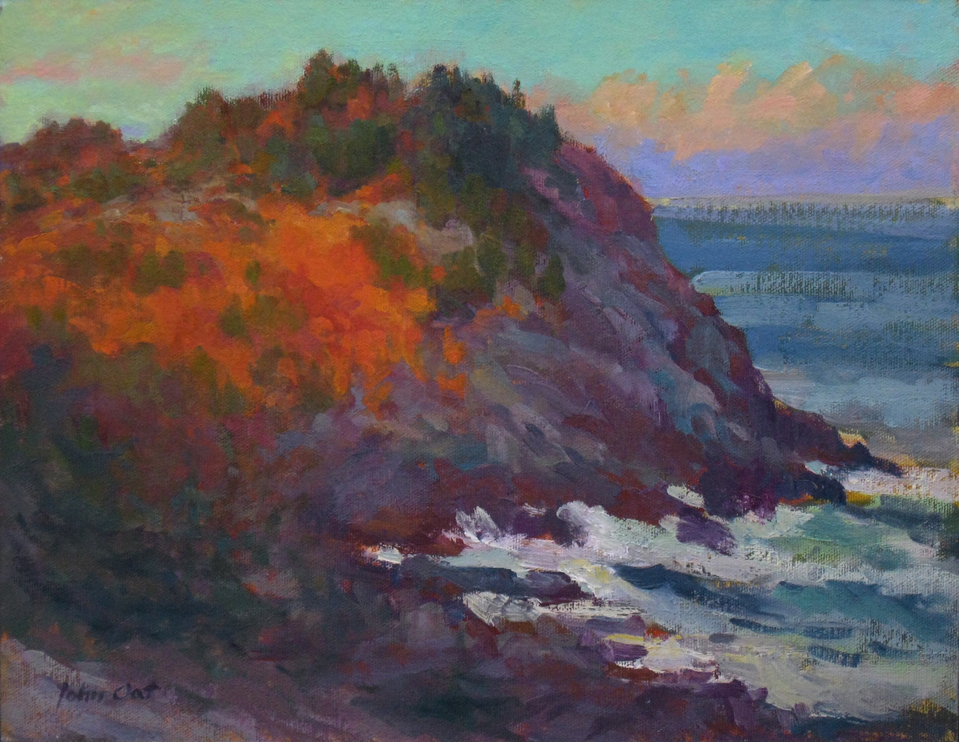 """Whitehead At Sunset 11 x 14"""" oil on canvas panel"""