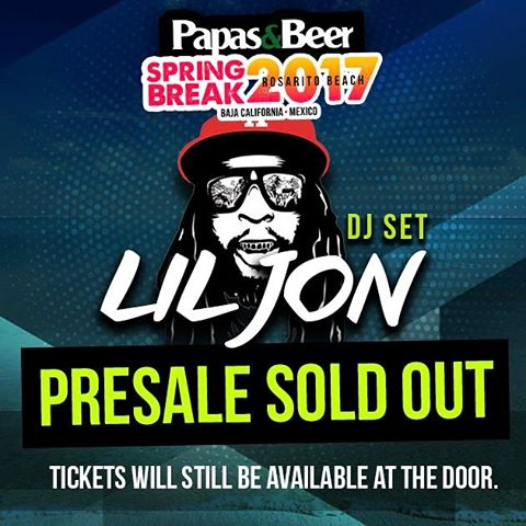 Weekend 3 presale is officially sold out.  Tickets will still be available at the door the day of the event! #springatpapas