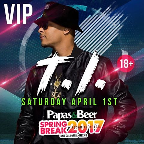 VIP & GA tickets for T.I. are available online! Get yours before prices go ⬆️ Tag a T.I. Fan Below  www.papasandbeer.com