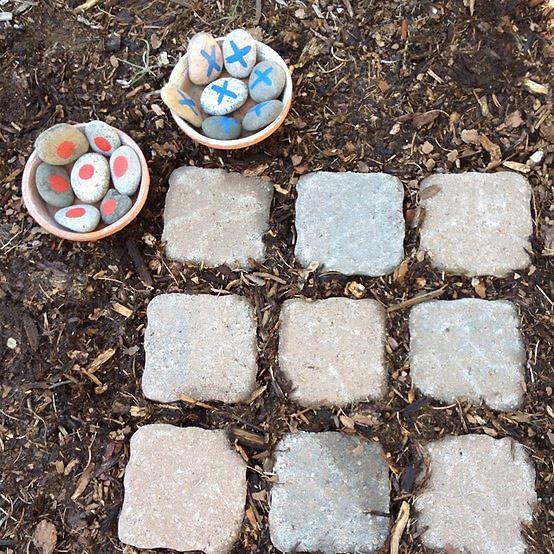 My outdoor Tic-Tac-Toe board.