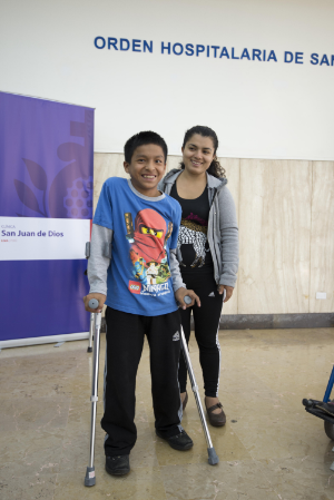 Fourteen-year-old Daniel suffers from Cerebral Palsy and now lives with his aunt after being abandoned by his parents. Though he appeared at first to be extremely shy, he warmed up to us within minutes and smiled wide to show his appreciation. It was humbling to see just how much a pair of crutches would improve his quality of life and allow him to get around safely and comfortably.
