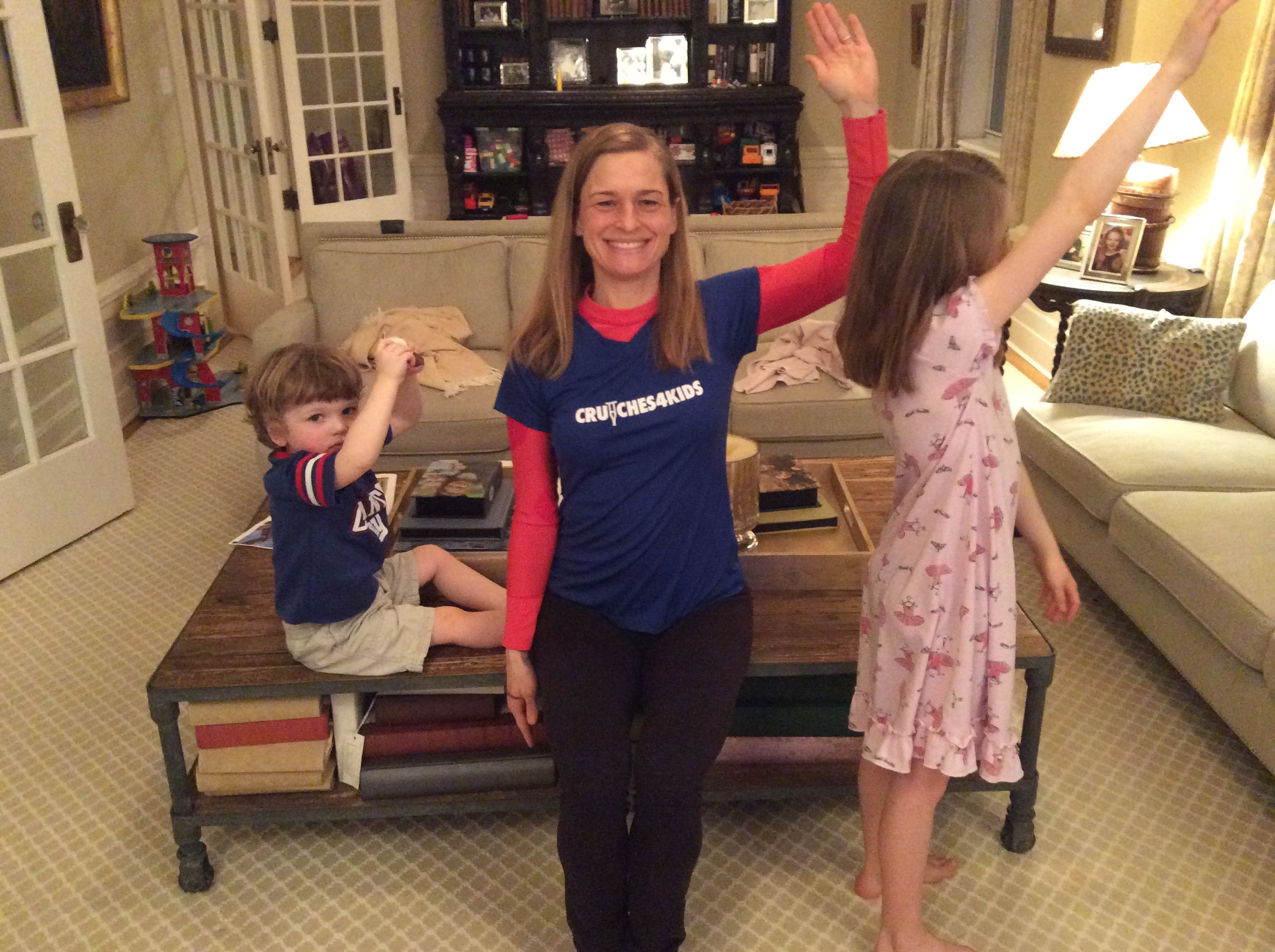 """Chelsea Palmer in NYC - """"I'm running for C4K to make a tangible and dramatic difference in the lives of 100 children who lack mobility. C4K rocks!!!!!!"""""""