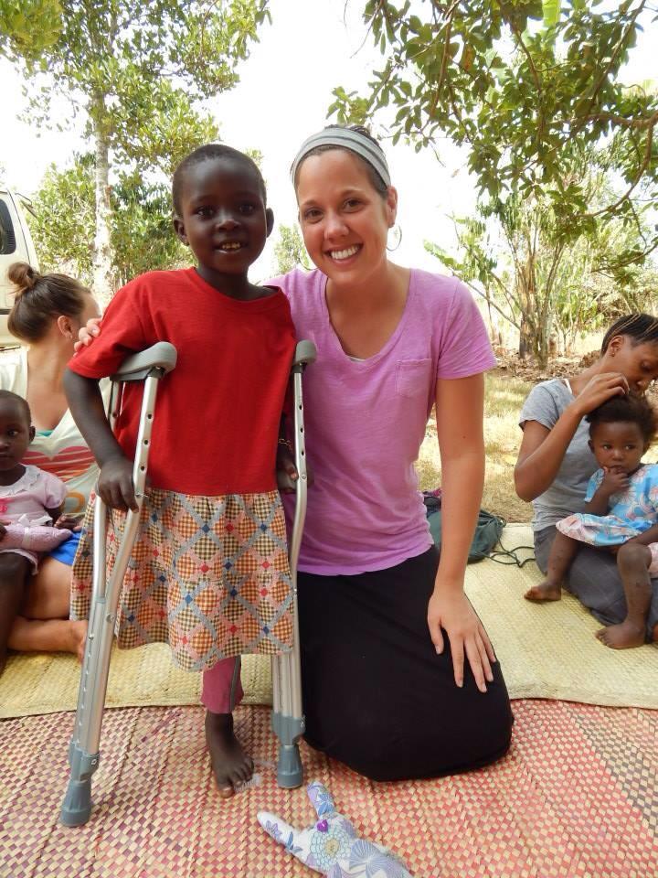 Justine and Rebecca. Uganda.