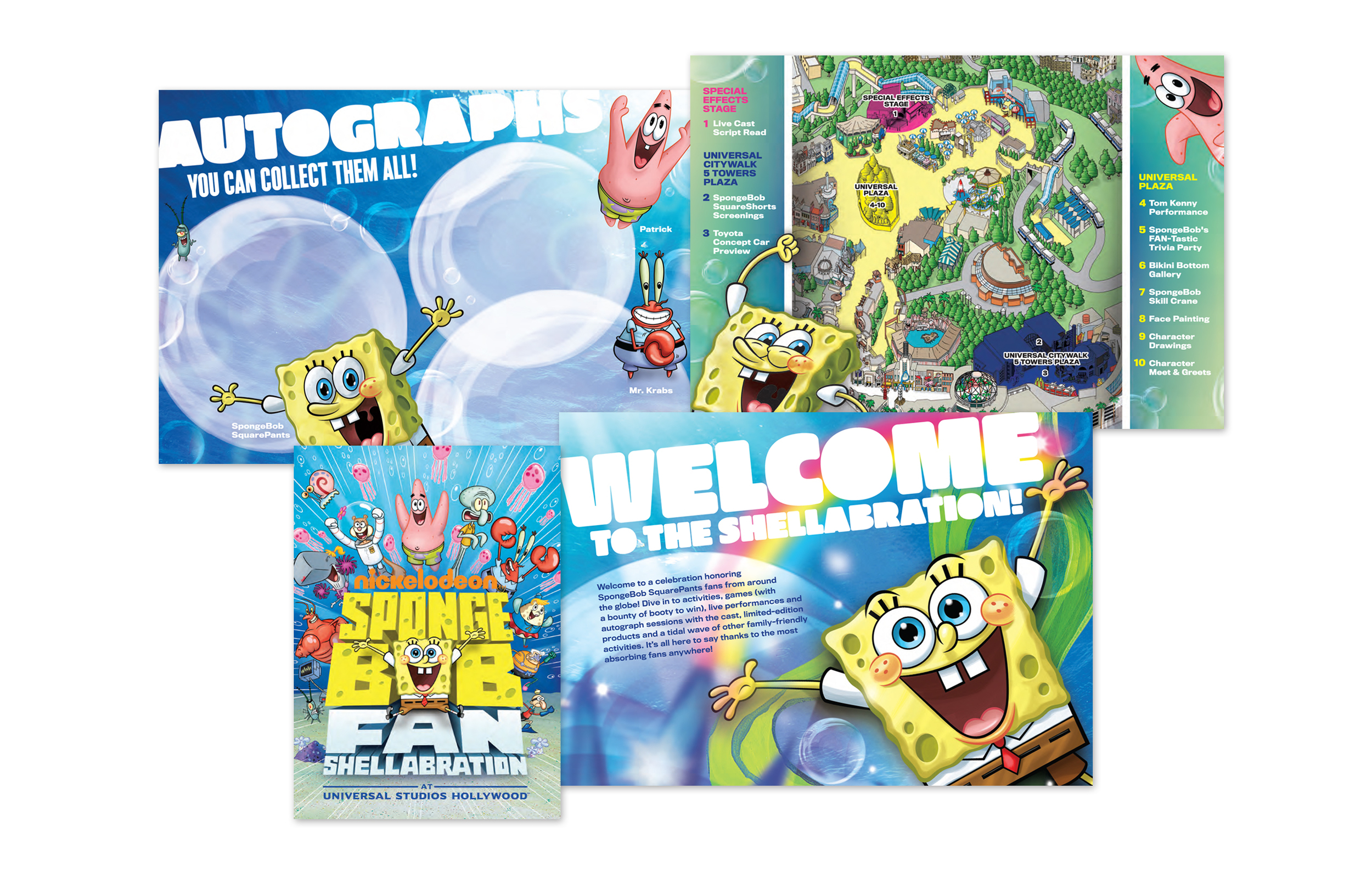 Passport Booklet for SpongeBob SquarePants Shellabration event at Universal Studios