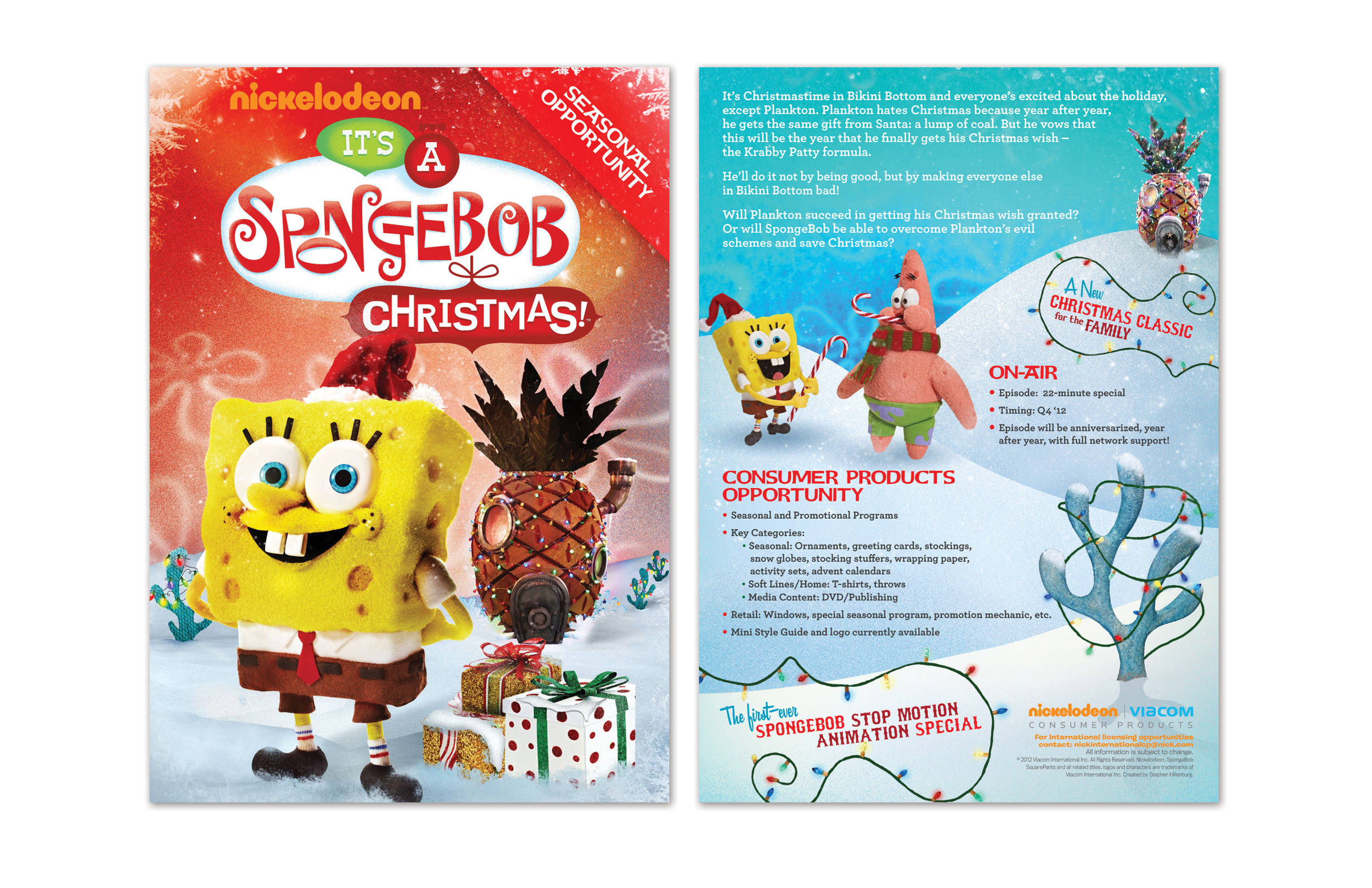 SpongeBob SquarePants Christmas Sell Sheet