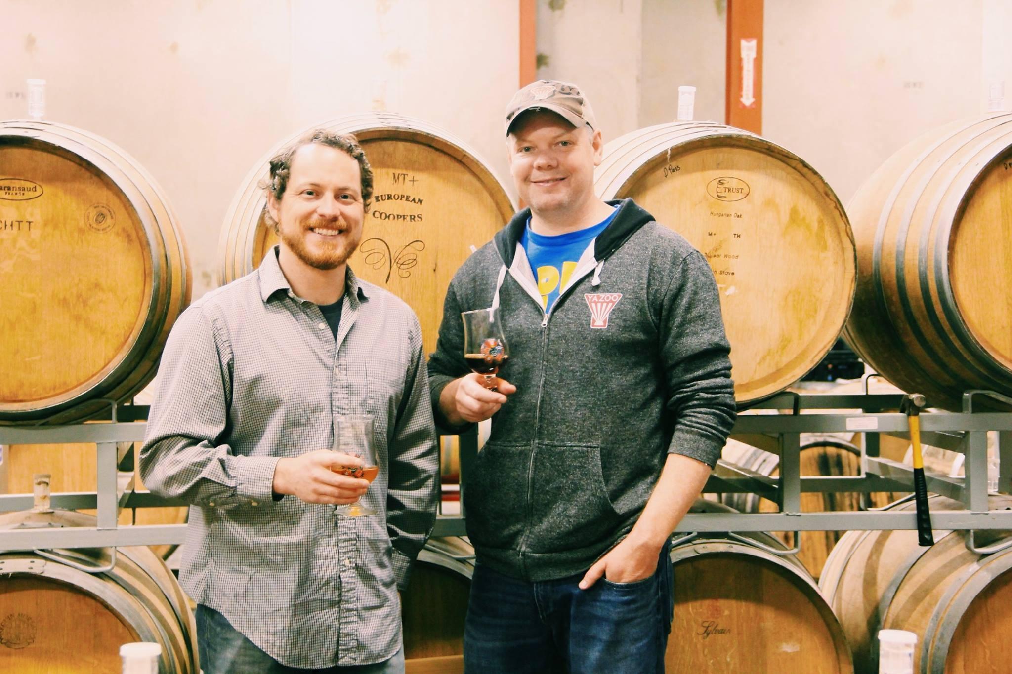 Upland's Caleb Staton, left, and Yazoo's Brandon Jones. Photo from Upland Brewing Co.