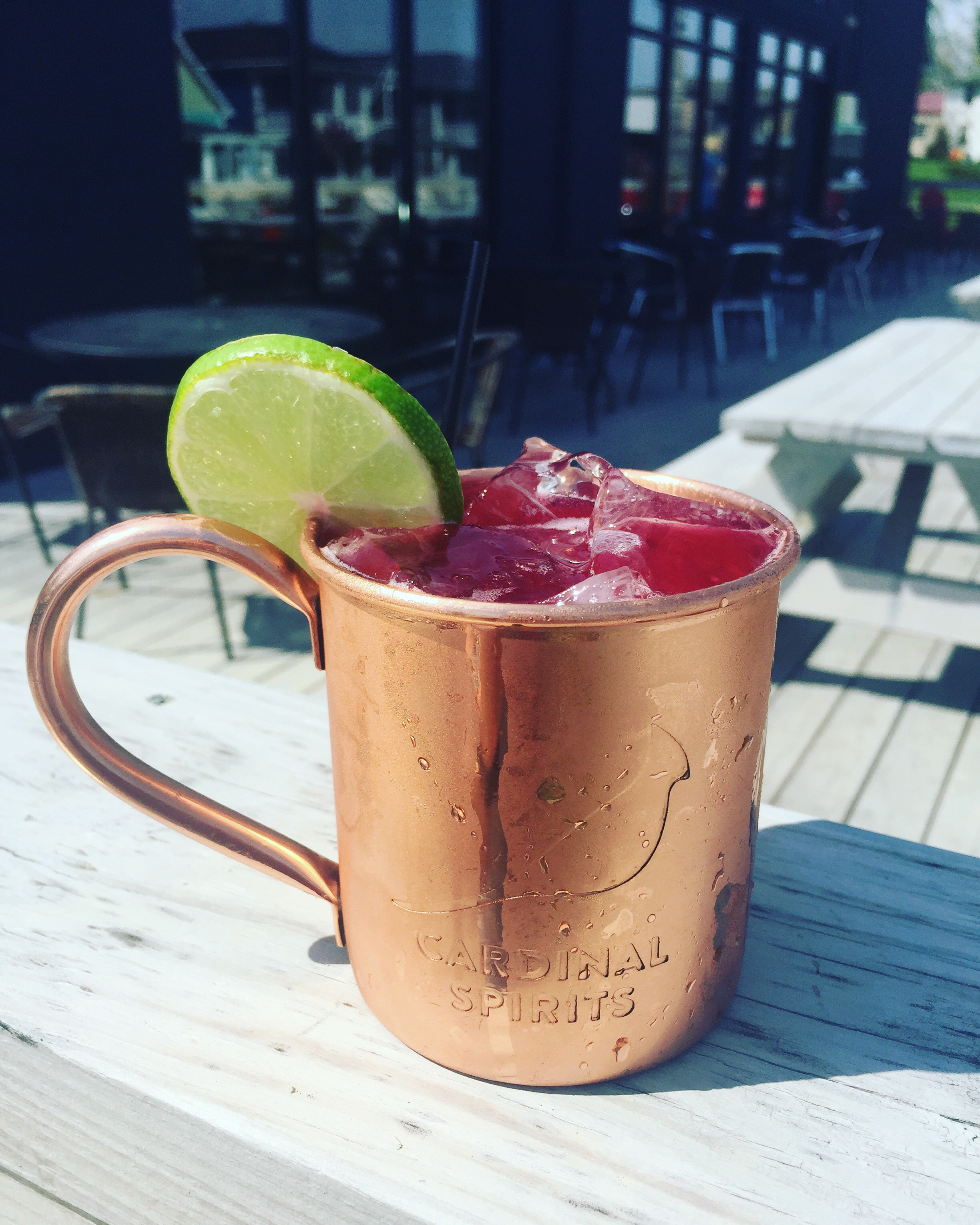 The Bramble Mule, made with our Black Raspberry Bramble