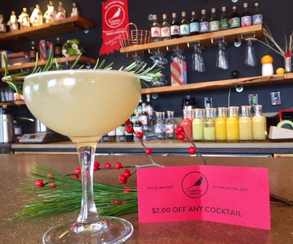 Pictured here: Rosemary's Second Baby cocktail, a gem of our winter menu. Curious about Rosemary's First Baby? Find the recipe in our  cocktail book .