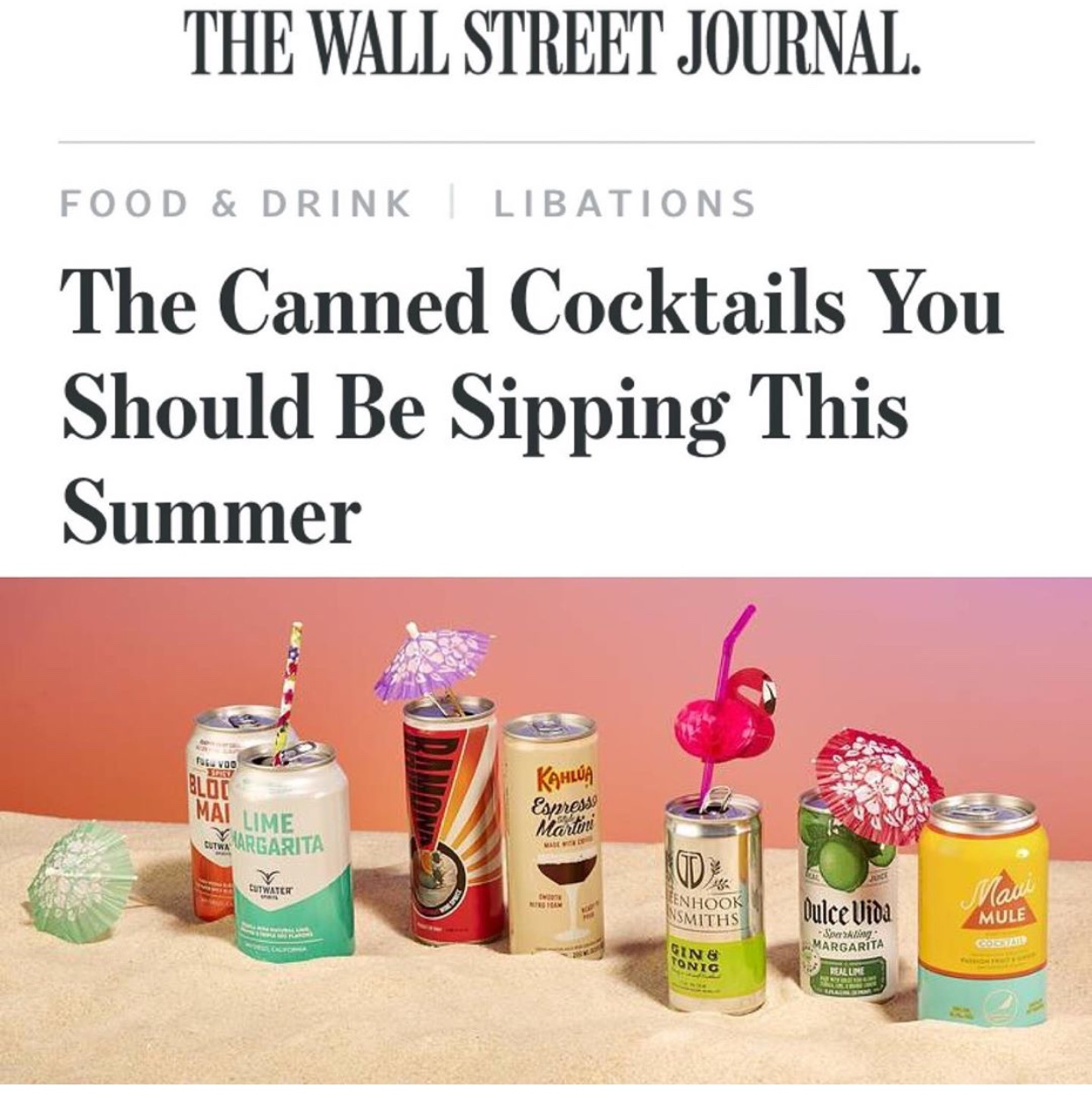 "WOWIE, MAUI!— - ""This mix of vodka, passion fruit juice and ginger has a rosy hue and a pleasing tropical-fruity flavor. All that's missing are the palm trees and the waves.""— The Wall Street Journal"