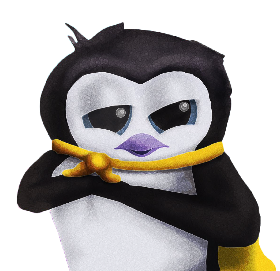 """""""Purpose the Penguinflew through the air,he lept off the couchwith the slightest of care."""" - Excerpt From Purpose the Penguin Goes to Sleep"""