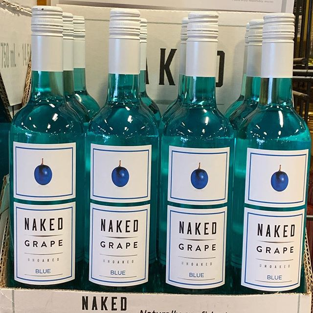 Feeling a lil Eiffel 65 style...We finally have @nakedgrape blue wine back in stock! And a lot of it! Swing by and grab a bottle while it's still here! Cheers! 🥂