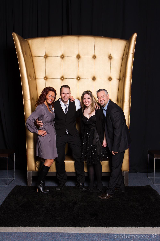 L'équipe de photographes : Sabrina Paquet, moi, Cynthia Bouchard et Martin Perron.