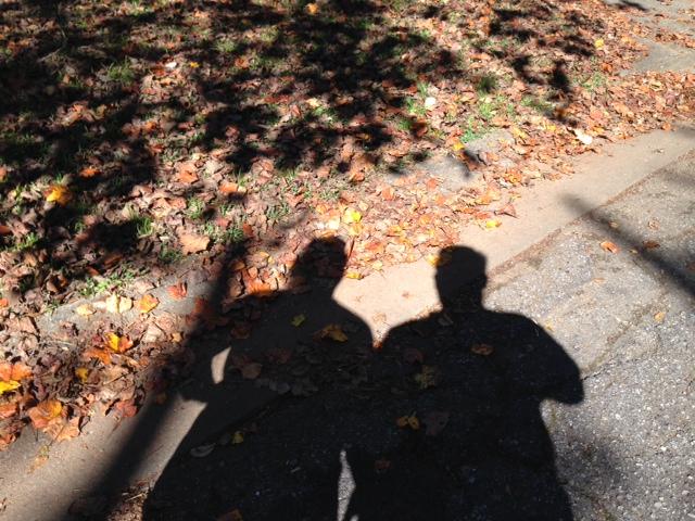 Our shadows.